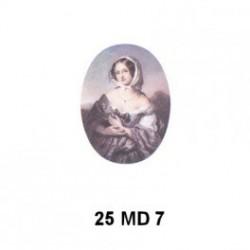 Virgen Madona Oval 25x18 mm