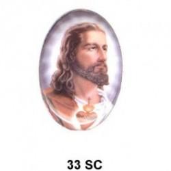 Sagrado Corazon de Jesus Oval 33 m.m.