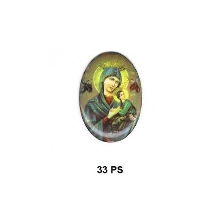 Virgen Perpetuo Socorro Oval 33 m.m.