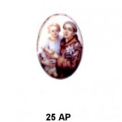 San antonio de Padua Oval 25 mm