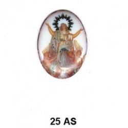Virgen de la Ascensión Oval 25 mm
