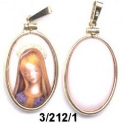 Medalla plata Virgen niña blanca