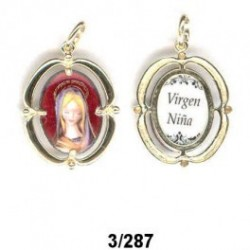 Medallita Virgen  Comunion en plata