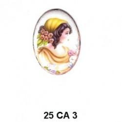 Camafeo Oval 25 mm