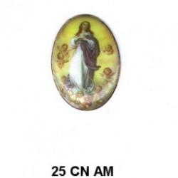 Virgen de la Concepcion Oval 25 mm