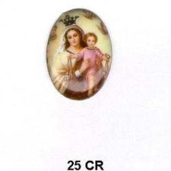 Virgen del Carmen Oval 25 mm