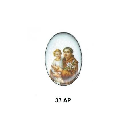 San Antonio de Padua Oval 33 m.m.