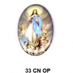 Virgen Inmaculada Concepción Oval 33 m.m.