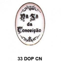 Trasera inscripción Virgen Inmaculada Concepción Oval 33 m.m.